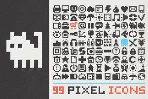 99 pixel art icons (set #1)