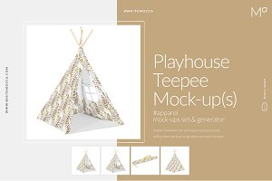 Playhouse Teepee Mock-ups