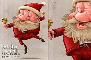 Santa Claus dancing bells