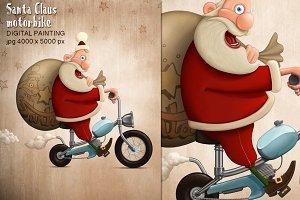 Santa Claus motorbike