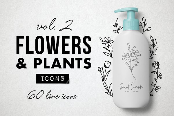 60 Flower and Floral Icons - Vol 2