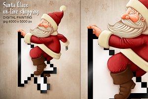Santa Claus on-line shopping