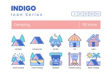 90 Camping Icons | Indigo Series by  in Icons