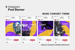 Music Concert Instagram Post