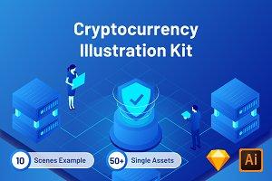 Cryptocurrency Illustration Kit
