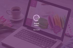 Sweeet cookies - PSD Theme