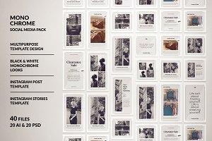 Monochrome Social Media Pack