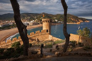 Tossa de Mar on Costa Brava in Spain