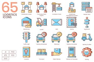 Shipping, Logistics, Delivery Icons