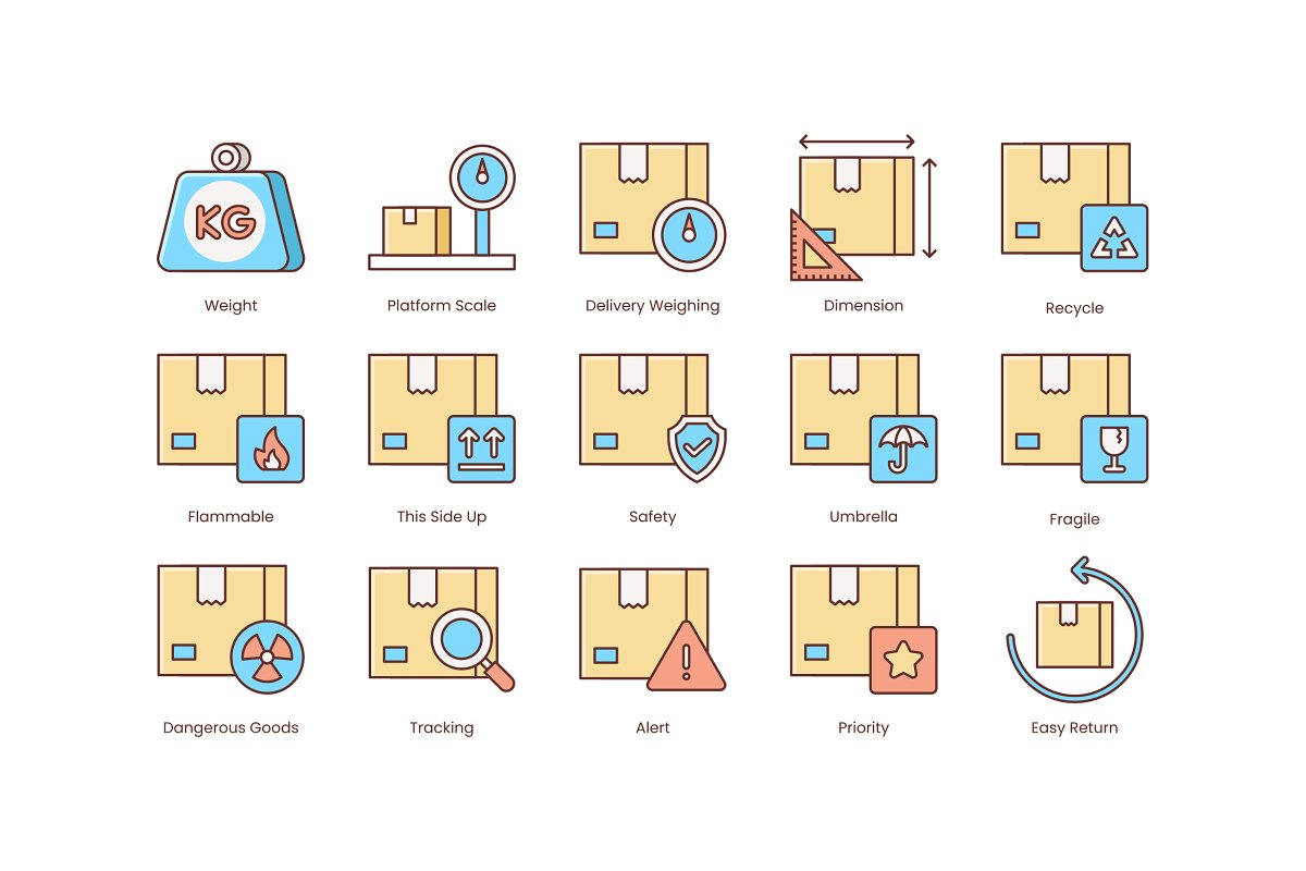 Shipping, Logistics, Delivery Icons in Safety Icons - product preview 2