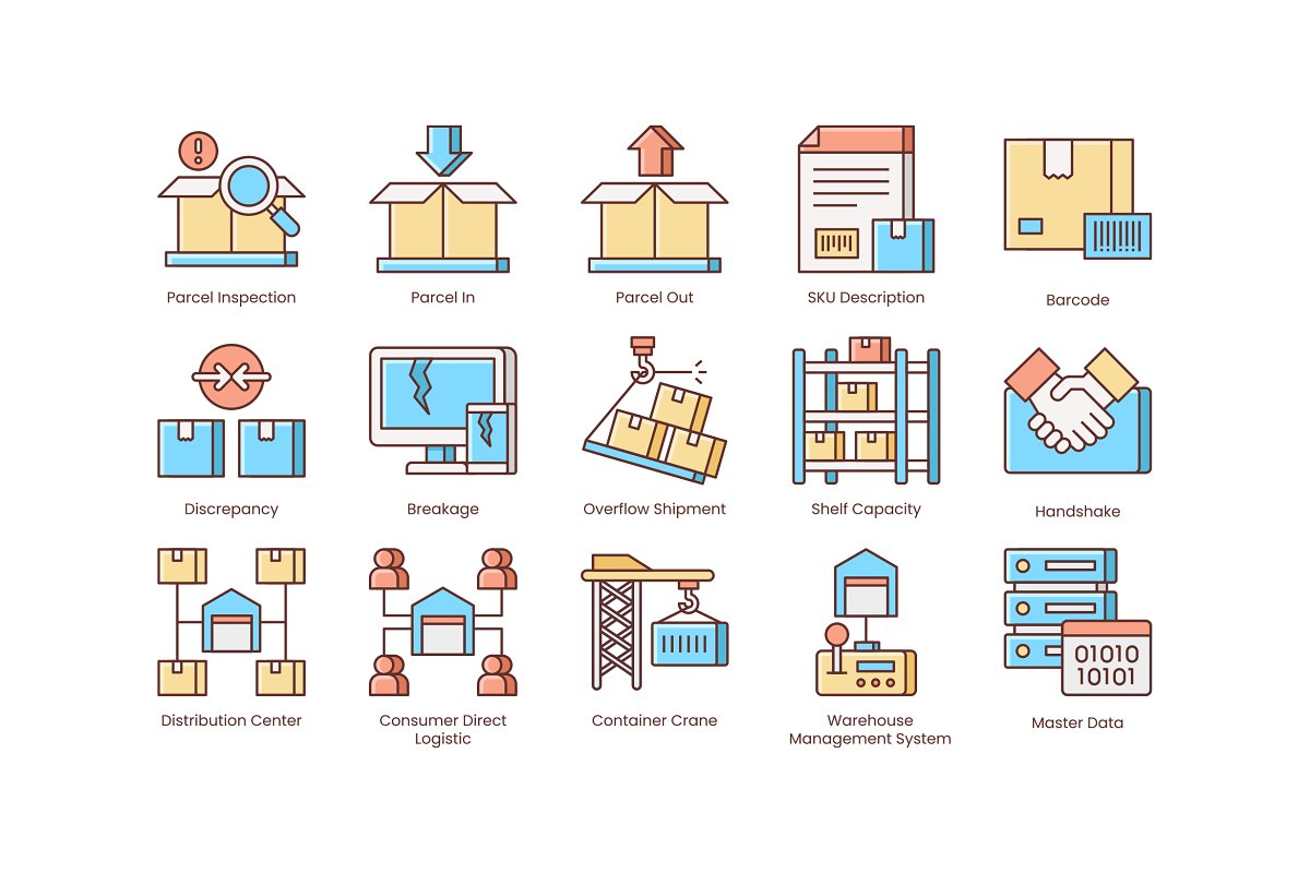 Shipping, Logistics, Delivery Icons in Safety Icons - product preview 3