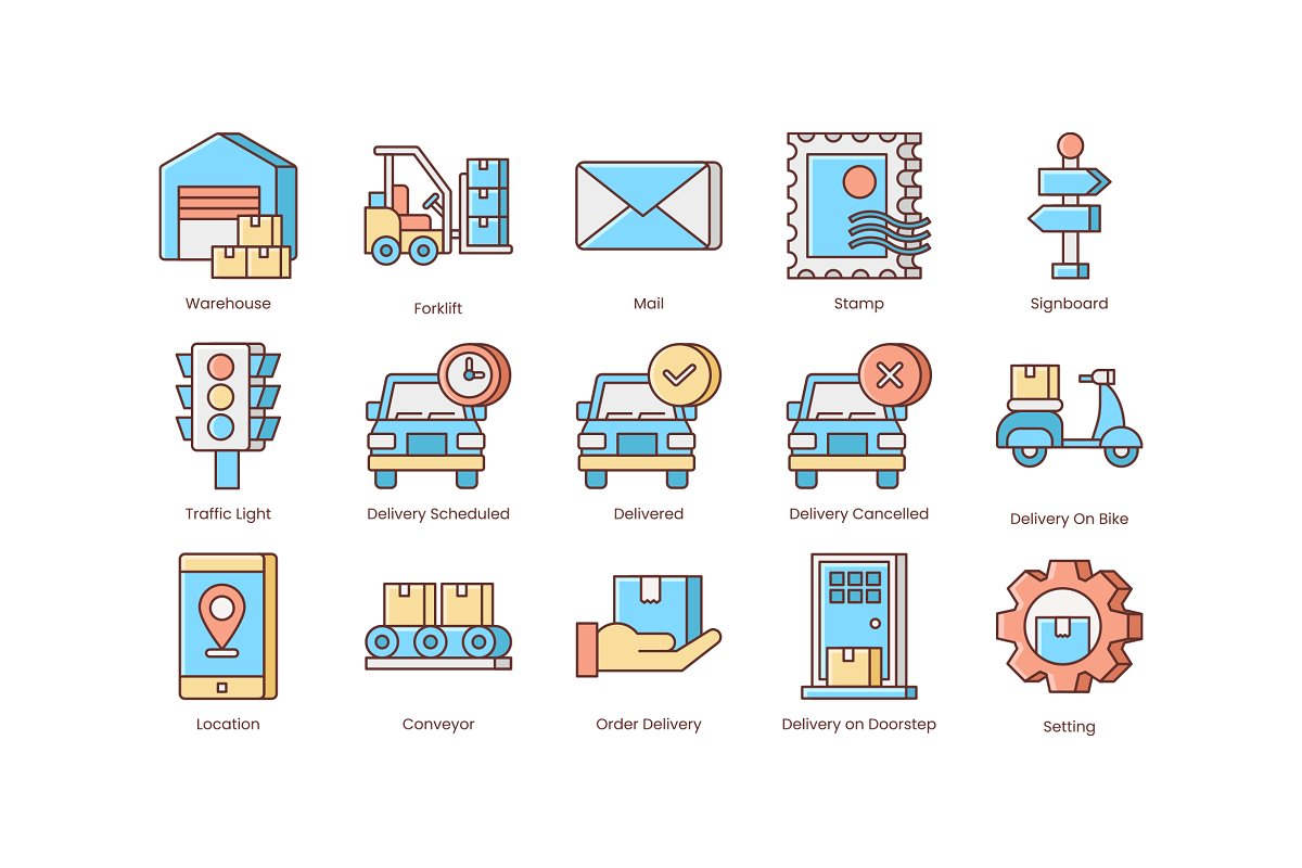 Shipping, Logistics, Delivery Icons in Safety Icons - product preview 4