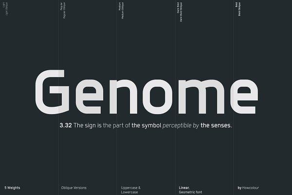 Sans Serif Fonts - Genome