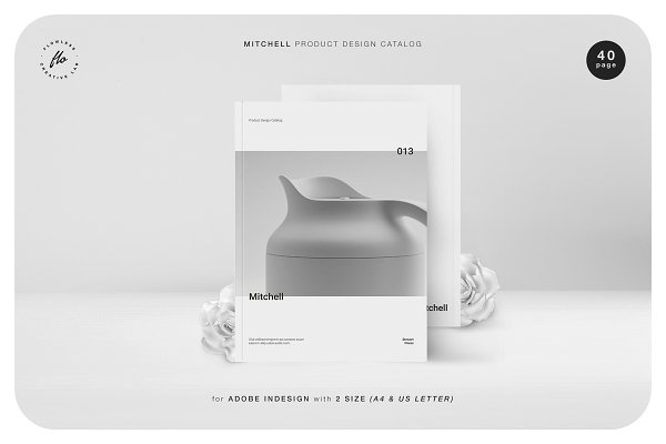 Magazine Templates: flowless - MITCHELL Product Design Catalog