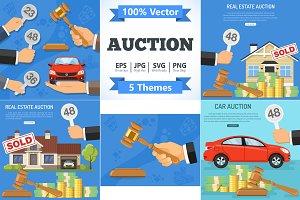 Buy, Sale, Rent, Auction Concepts