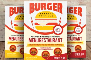 Burger Time Flyer Template