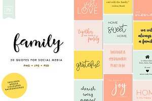Family Social Media Quotes Pack