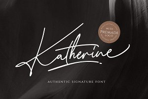 Katherine Script (+Premade Logo)