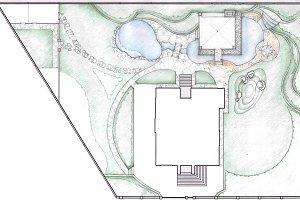 Plot plan of the property sketch