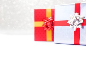 Gift boxes with brilliant background