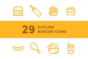 Burger Shop Icons / Illustrations