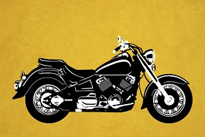Cruiser Motorcycle Vector
