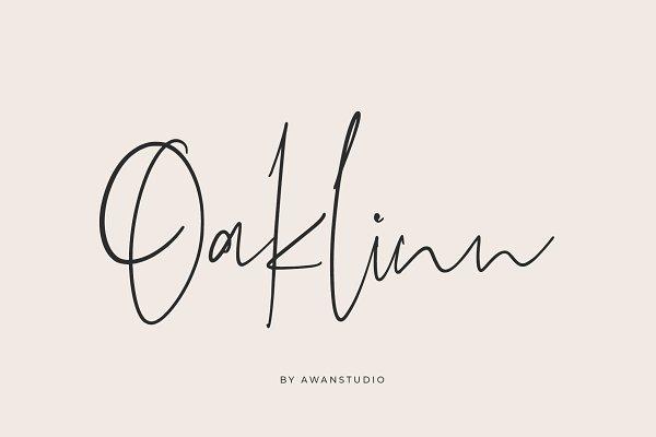 Oaklinn Script Font