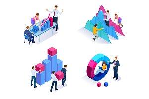 Isometric concept of analytics