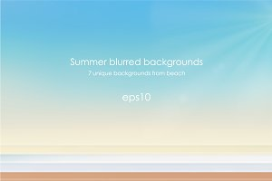 Vector beach backgrounds