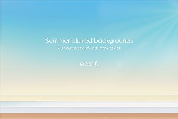 Vector beach backgrounds