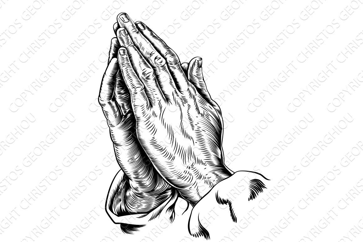 praying hands illustration illustrations creative market