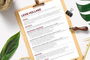 Modern CV Resume Template
