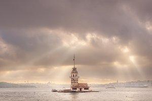 Maiden Tower in Bosphorus, Istanbul