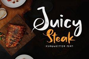 Juicy Steak - Handwritten Font