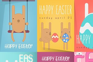 Easter Posters Set