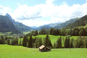 Beautiful view of switzerland