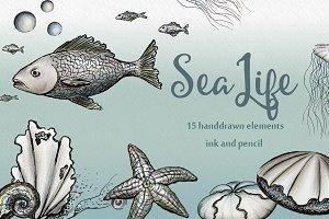 Sea Life - Ink & pencil pack