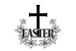 Happy Easter concept illustration