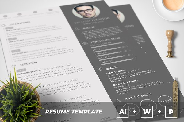 Resume Templates: AutumnTemplate - Clean Resume / CV