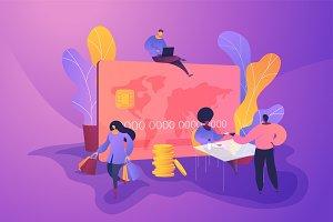 Credit card vector creative concept