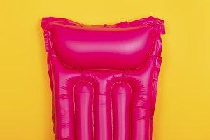 pink swim mattress