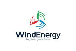Wind Energy Logo Template