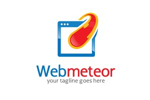 Web Meteor/ Fast Web Logo Template
