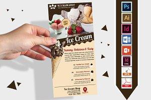 Rack Card | Ice Cream Shop DL Flyer