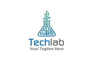 Technology Lab Logo Template