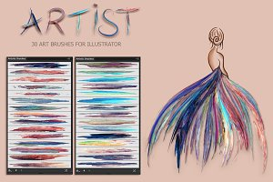 Artist Brushes for Illustrator