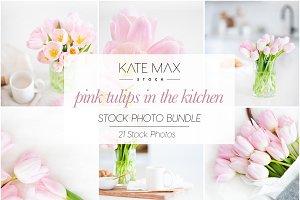 Pink Tulips in the Kitchen Photo Bun