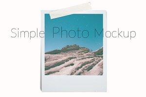 Simple Vintage Photo MockupPSD