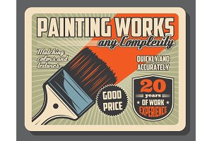 Brush and paint, painting tool