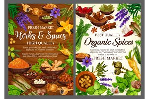 Spices and herbs, cooking seasonings